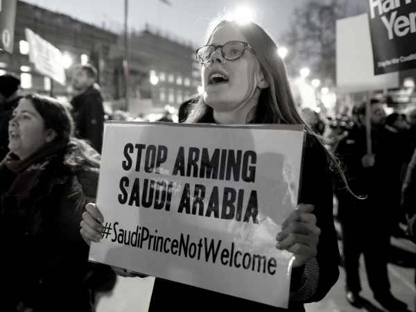 Stop arming Saudi Arabia protest