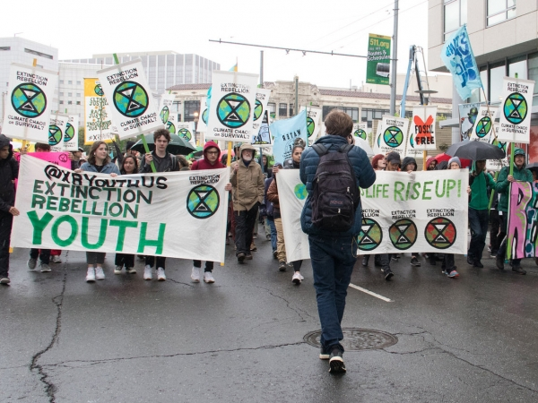 Extinction Rebellion Youth activists in San Francisco, April 2019