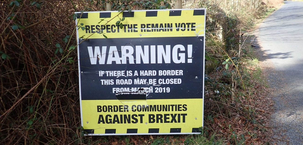 Border Communities Against Brexit sign