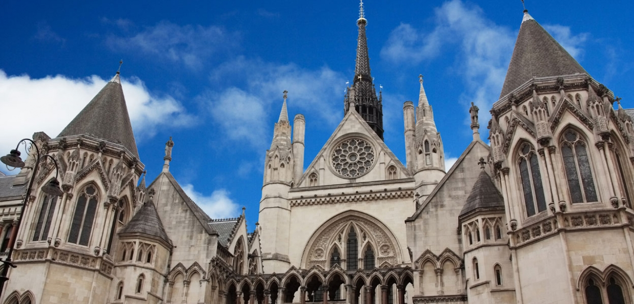 The Royal Courts of Justice in Westminster