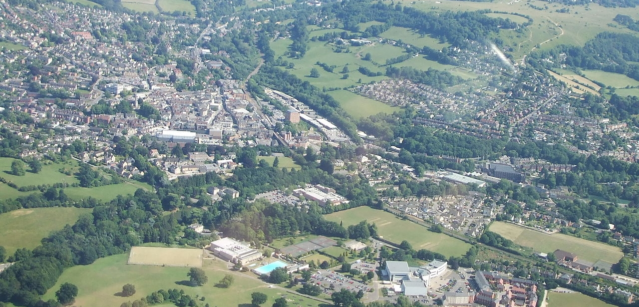 Stroud from the air