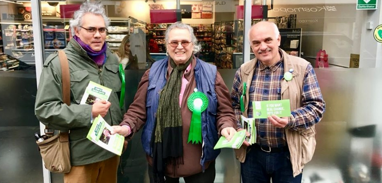 Three Green Seniors campaigning in London