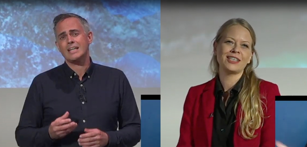 Jonathan Bartley and Sian Berry speaking at GPEW Conference 2020
