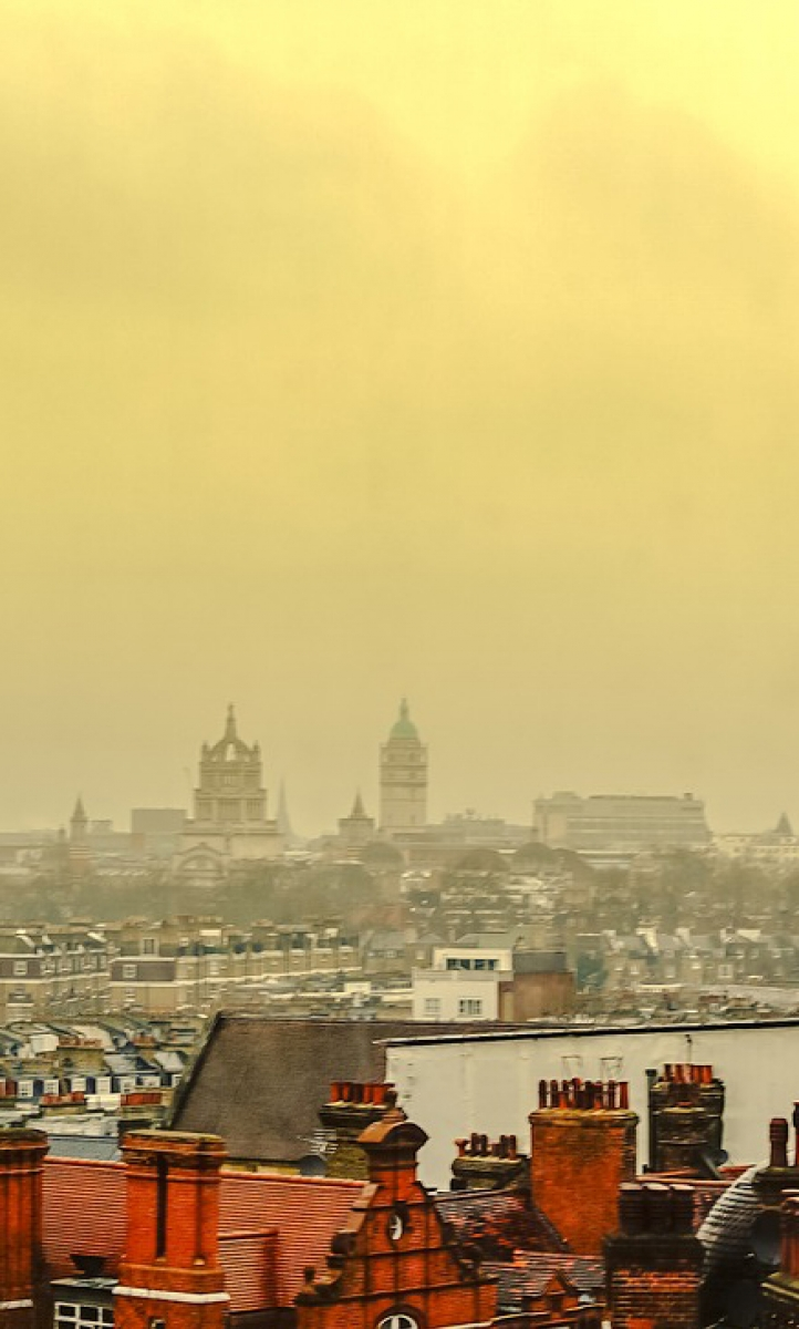 London skyline on a smoggy day