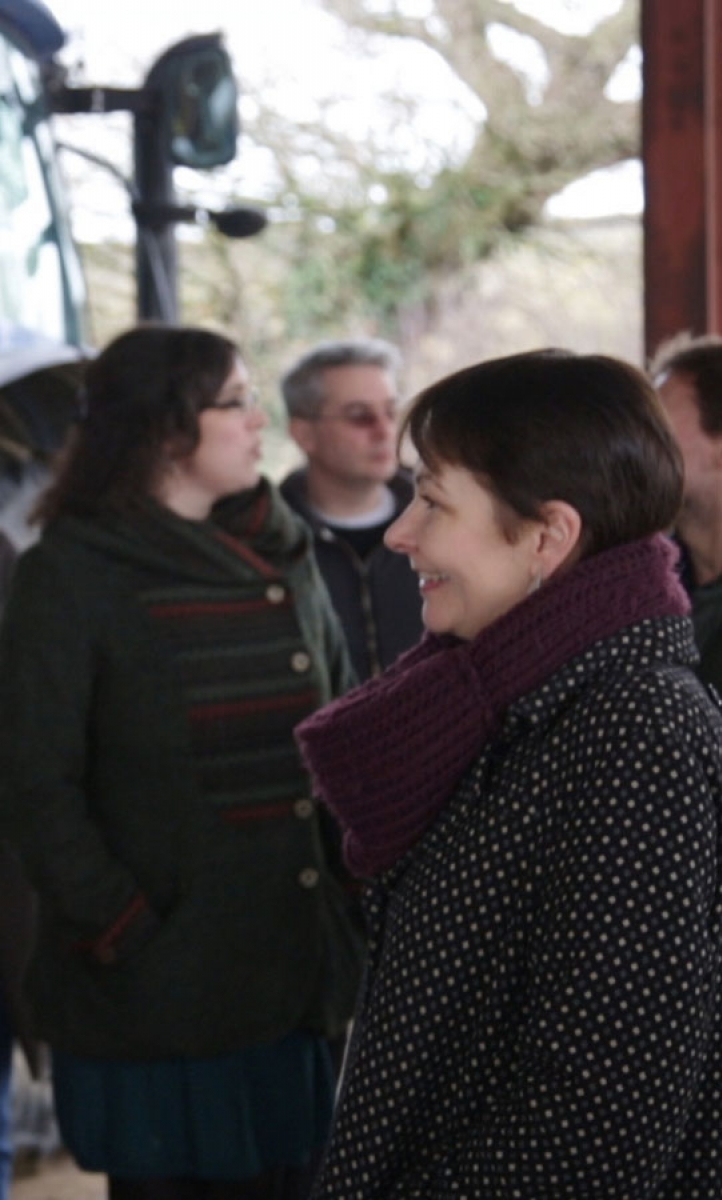 Caroline Lucas meets constituents on the Isle of Wight