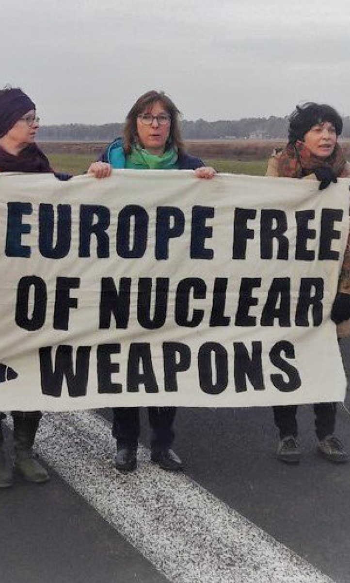Green MEPs protest against nuclear weapons