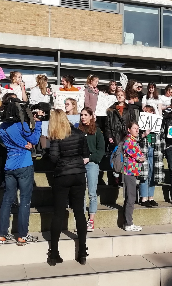 Students in Lancaster strike for climate action