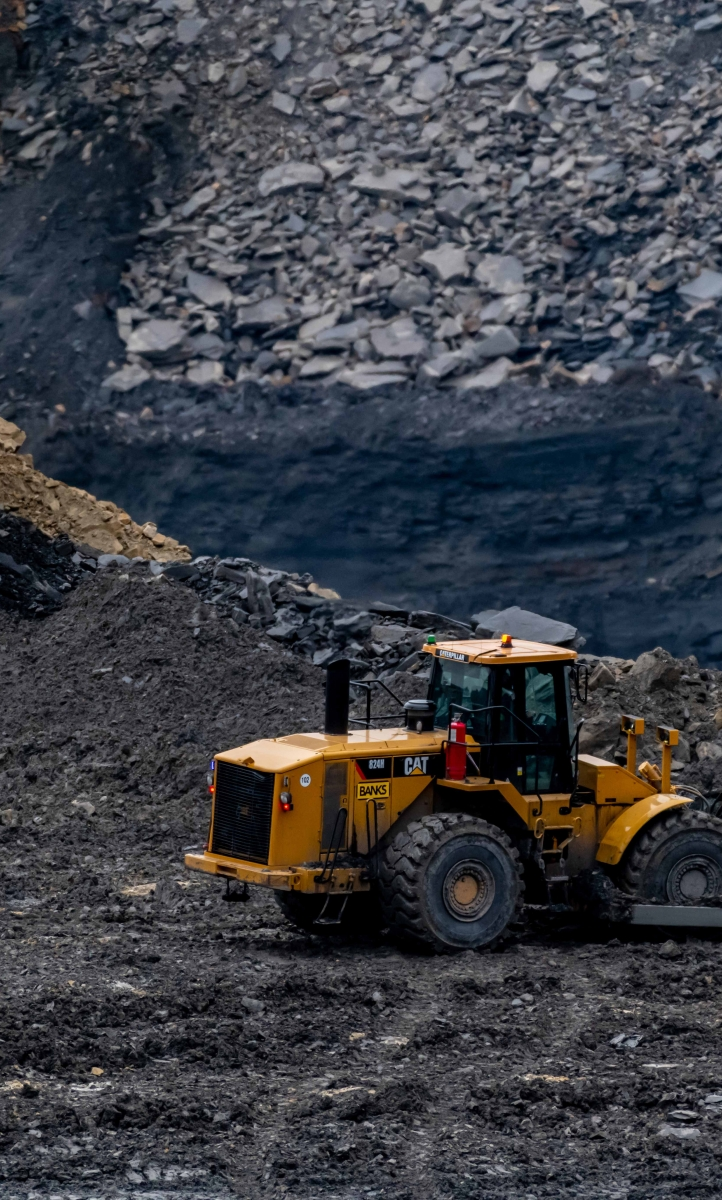 An image of a digger at Shotton Surface Mine in Northumberland