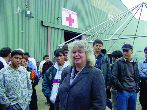 Jean Lambert Sangatte Red Cross