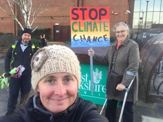 Greens in West Berkshire collected signatures