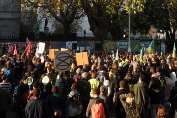Crowd of people at a protest