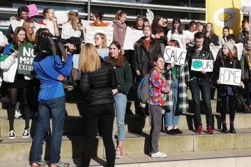 Students in Lancaster strike for climate actionn