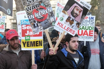 Protest against the war in Yemen