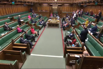 An image of the MPs present during the climate emergency debate on 1 May
