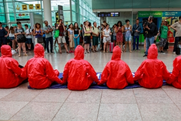 Stay Grounded Protesters at Barcelona Airport