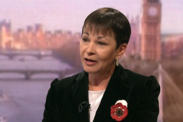 Caroline Lucas speaks to Andrew Marr