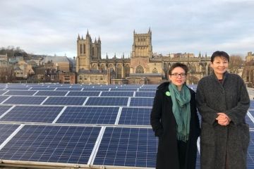 Carla Denyer and Caroline Lucas in Bristol