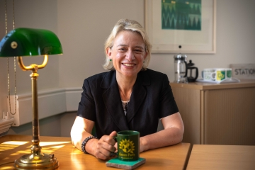 Natalie Bennett in parliamentary office.