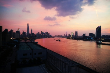 Red skies in Shanghai