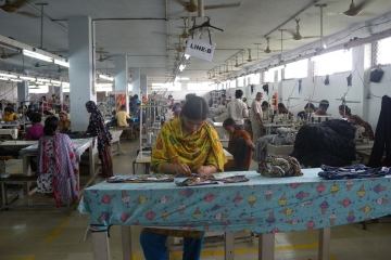An image of a garment factory in Bangladesh