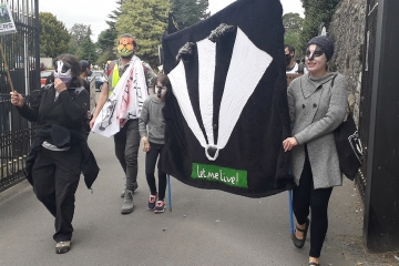Badger cull protests in Derbyshire