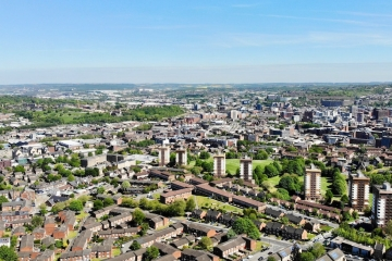 Sheffield aerial view